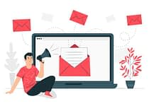Email marketing Campaign Concept Illustration